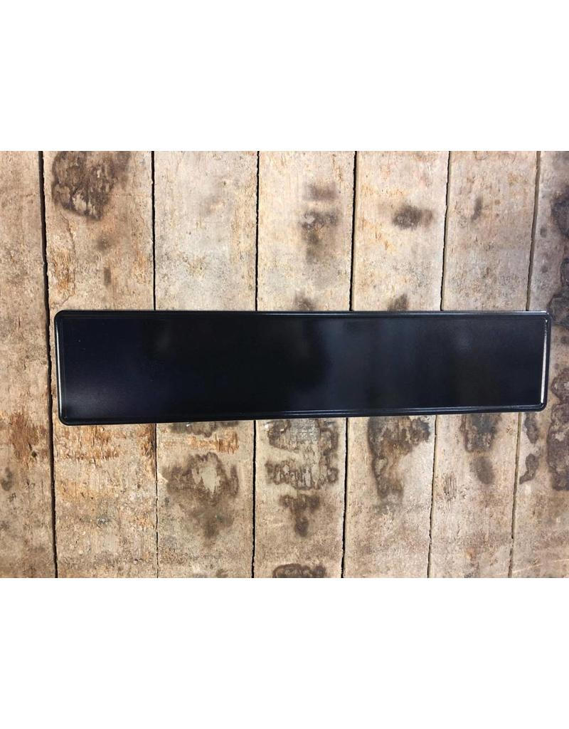 Kentekenplaat zwart reflectie
