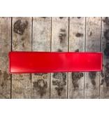 Rood reflectie kentekenplaat met naam