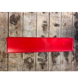 Kentekenplaat rood reflectie
