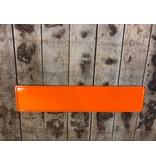 Oranje reflectie kentekenplaat met naam