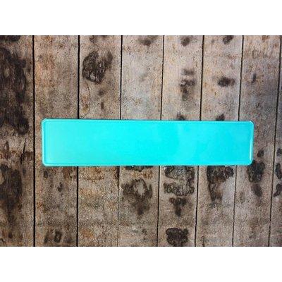 Turquoise kentekenplaat met naam