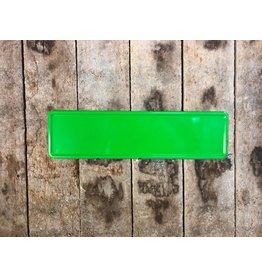 Midi Kentekenplaat fel groen 34x9
