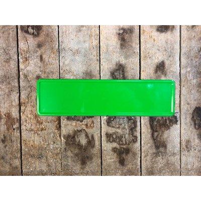 Midi Kentekenplaat fel groen met naam 34x9