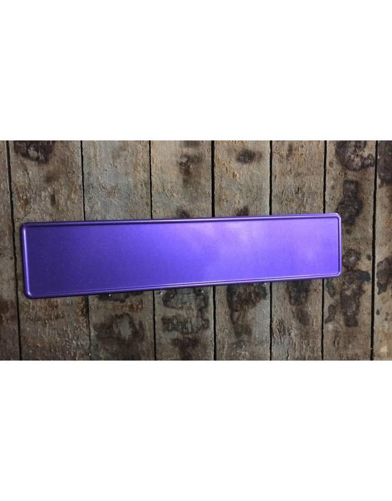 Paars glitter kentekenplaat met naam