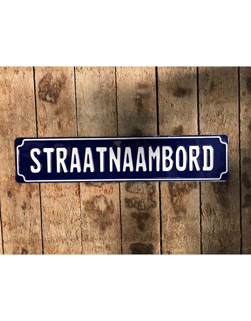 straatnaambord blauw