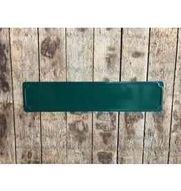 Straatnaam bord, groen