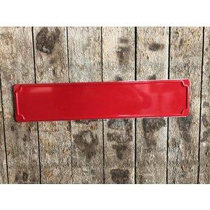 Straatnaam bord, rood
