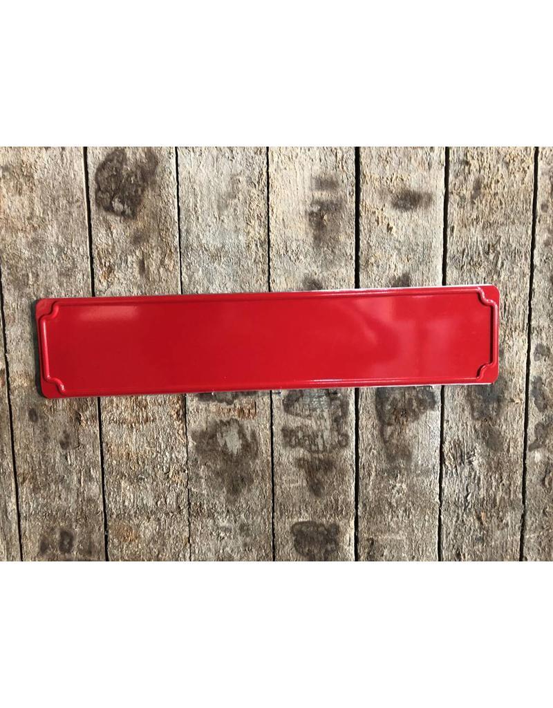 straatnaambord rood
