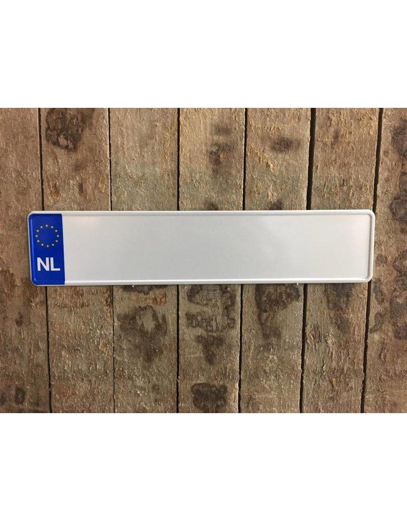 Witte Kentekenplaat - NL
