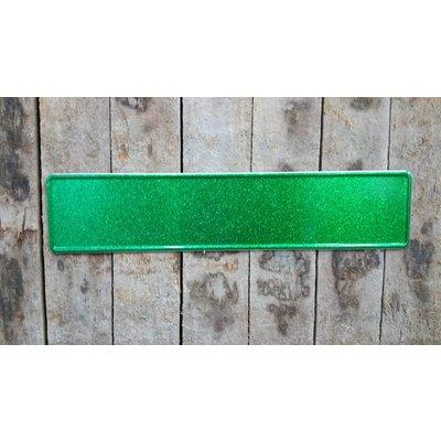 Groen glitter kentekenplaat met naam
