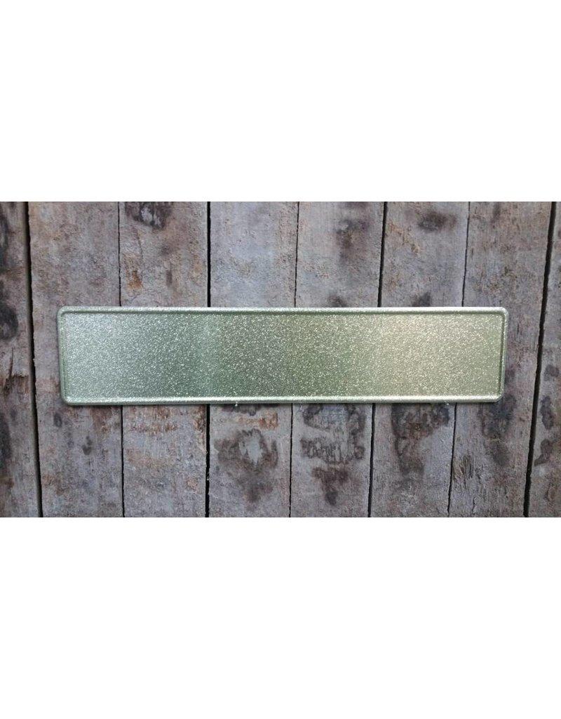 Goud glitter kentekenplaat met naam