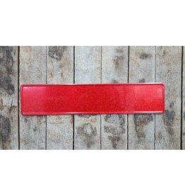 Kentekenplaat rood Glitter