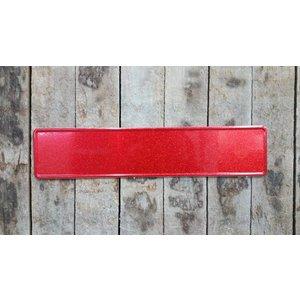 Rood glitter kentekenplaat met naam