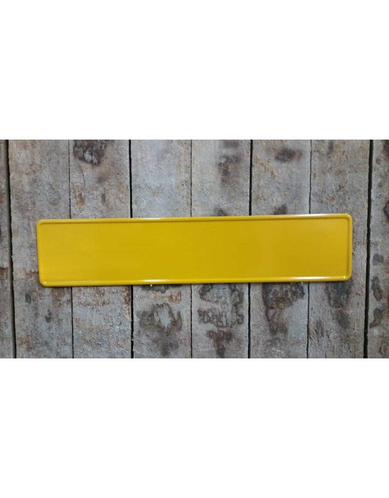 geel reflectie kentekenplaat met naam