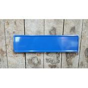 Midi Kentekenplaat blauw 34x9 met naam