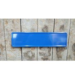 Midi Kentekenplaat blauw 34x9