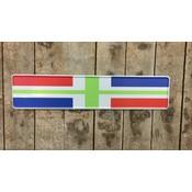 kentekenplaat Groningse vlag met naam