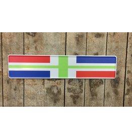 kentekenplaat Groningse vlag