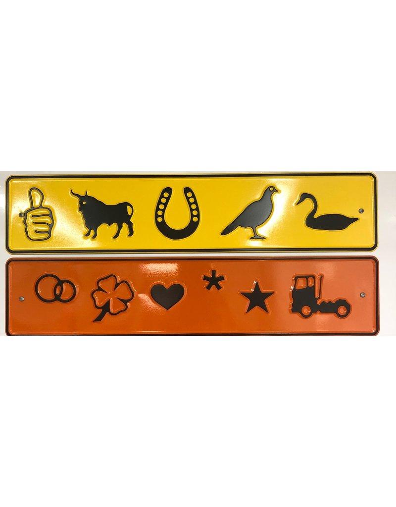 Gouden kentekenplaat met naam