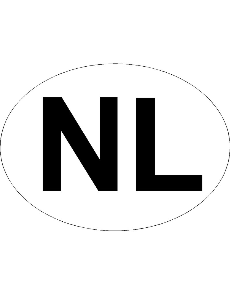 NL Sticker ovaal