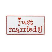Just Married  Kentekenplaat
