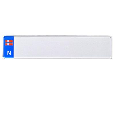 Noorse EU kentekenplaat wit met naam