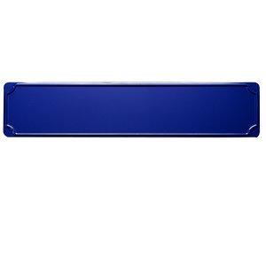 Straatnaam bord, blauw