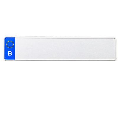 Kentekenplaat Wit België EU met naam