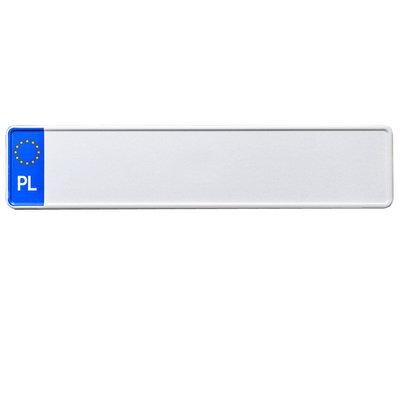 Wit Polen EU kentekenplaat met naam