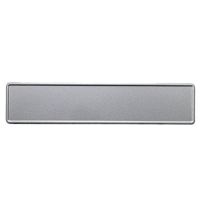 Zilver glitter kentekenplaat met naam