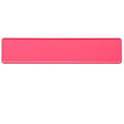 Fluor roze kentekenplaat met naam