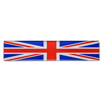 Great Britain flag kentekenplaat met naam
