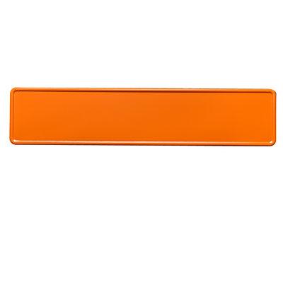 Oranje kentekenplaat met naam