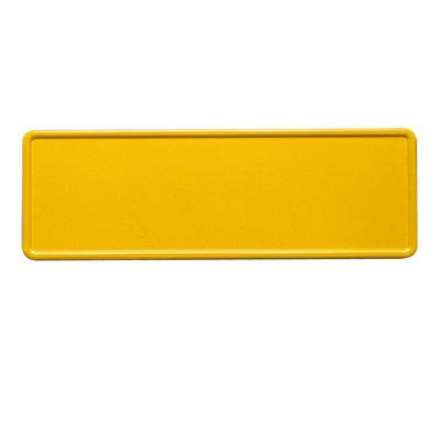 Gele midi kentekenplaat met naam 34x9cm