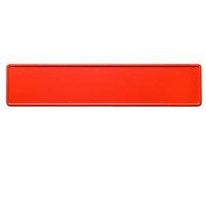Rode kentekenplaat met naam