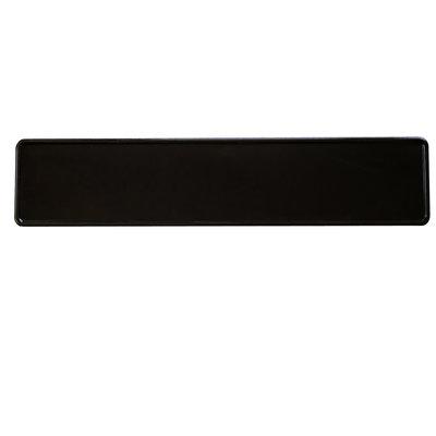 Glans zwarte kentekenplaat met naam