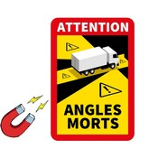 ATTENTION ANGLES MORTS magneet sticker