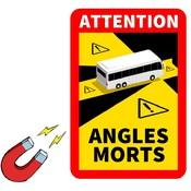 ATTENTION ANGLES MORTS magneet sticker  bus