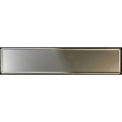 Zilveren kentekenplaat met naam