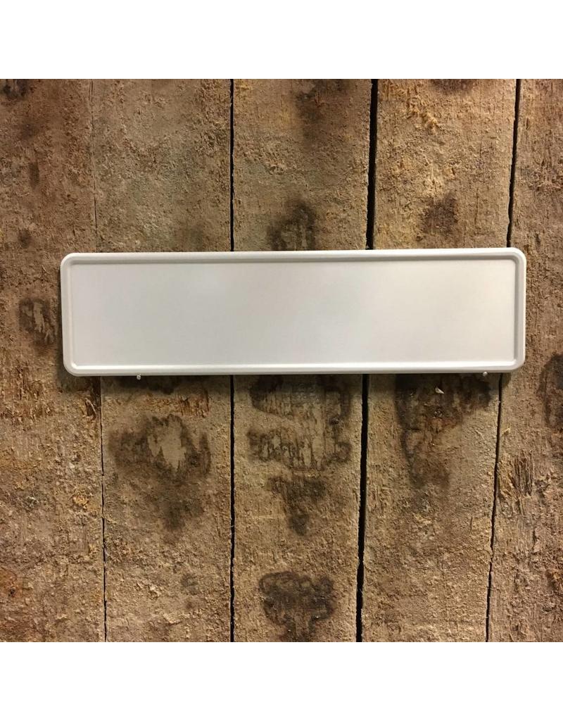 Midi Kentekenplaat Wit 34x9