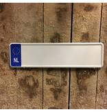 Midi Kentekenplaat Wit NL 34x9