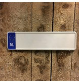 Midi Kentekenplaat Wit NL  met naam 34x9
