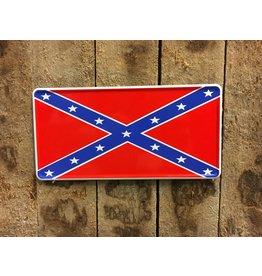 'Confederate flag' Kentekenplaat met naam