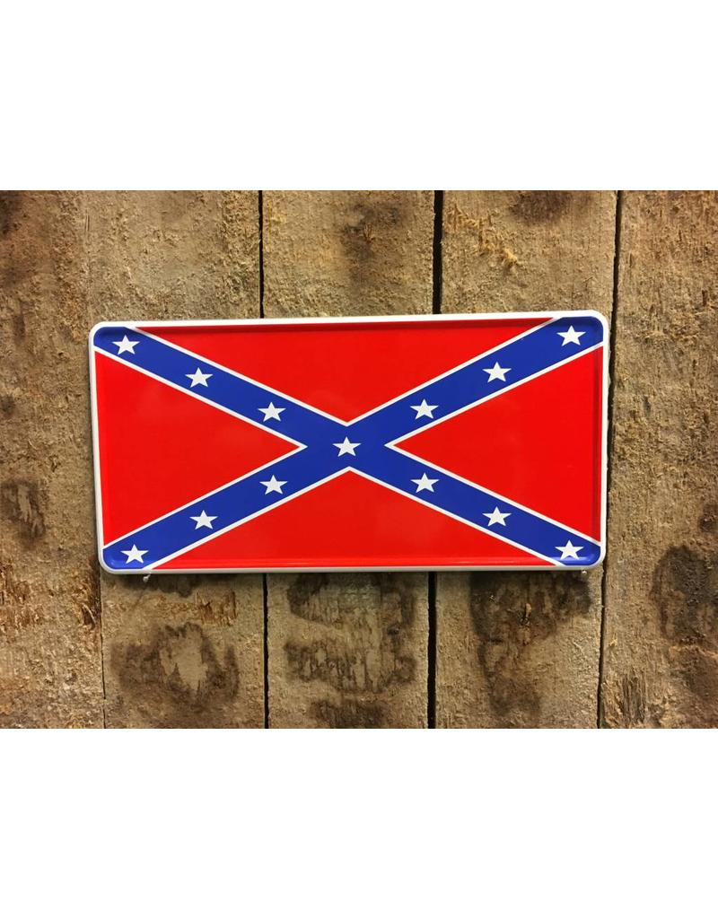'Confederate flag' Kentekenplaat