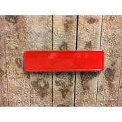 Rode midi kentekenplaat met naam