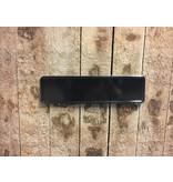 Zwarte Midi Kentekenplaat met naam 34x9