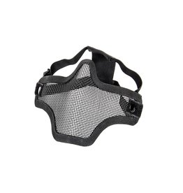 Phantom Steel mesh half face mask black