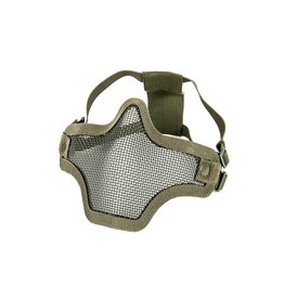 Phantom Steel mesh half face mask groen