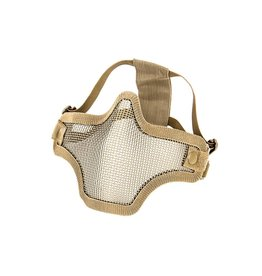 Phantom Steel mesh half face mask tan