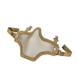 Phantom Steel mesh half face mask tan - voor fast helm